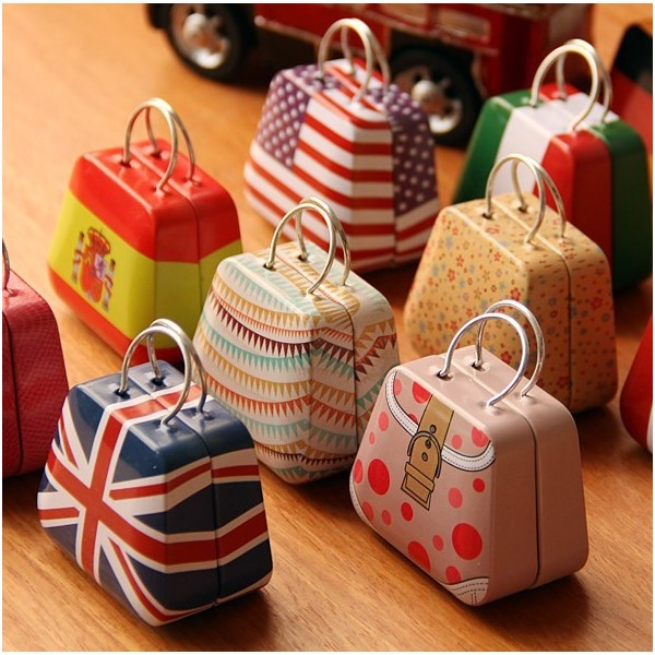 New Handbag Mini Storage Tin Box Small Candy Box Classy Decorative Candy Boxes