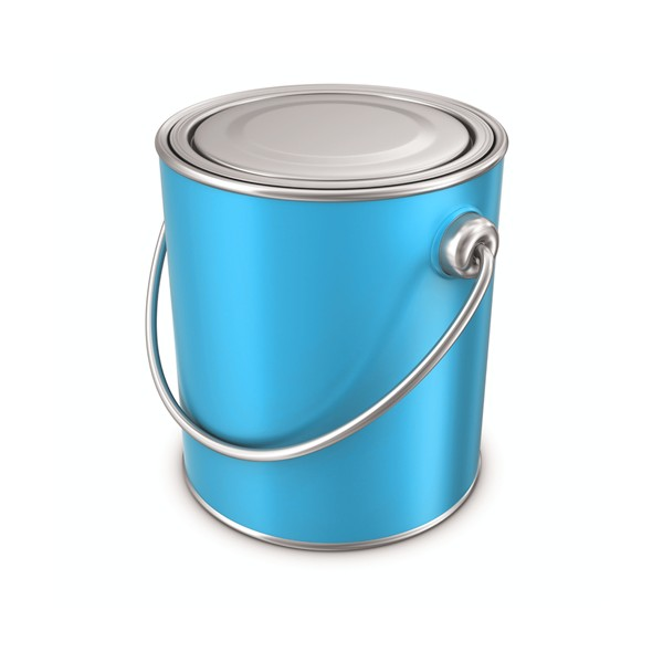 Blue Paint Tin Cans