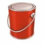 ORANGE PAINT TIN CANS