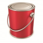RED PAINT TIN CANS