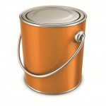 YELLOW PAINT TIN CANS