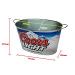 Oval metal beer buckets